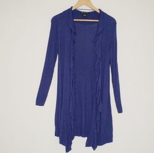 Indigo Blue Open Duster Cardigan I.N.C.